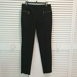 Dress Stretchy Pants with Zipper accents NWOT
